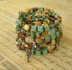 Boho Bracelet Junk Gypsy Turquoise Jewelry Layered by BohoStyleMe