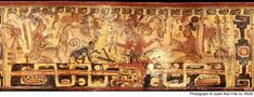 Maya Vase K626 A version of the Dressing of the Maize god after his resurrection. The Monkey wears the Ah K'hun headdress