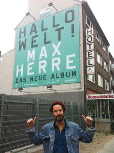 max herre. hallo welt! max herre, hallo welt, artwork, offiziell, rocket + wink, design, schrift, typografie, poster, 2012