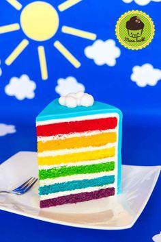 Rainbow Cake Regenbogen Kuchen Mann backt (1 von 2)