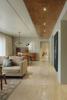 30 Affordable Apartment Ceiling Design Ideas That Inspiring Home Room Design, Home Ceiling, Apartment Interior, Apartment Interior Design, Modern House Design, Living Room Ceiling, Ceiling Design Living Room, House Interior Decor, Living Room Designs