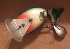 Vintage Unknown Knockoff Frog Spot Heddon Hi-tail Fishing Lure Bass Bait
