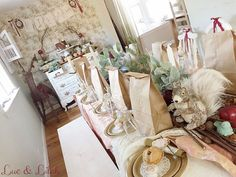 Dining Table + Dessert & Sweet Display Dresser from a Snow White Enchanted Forest Birthday Party via Kara's Party Ideas KarasPartyIdeas.com (23)