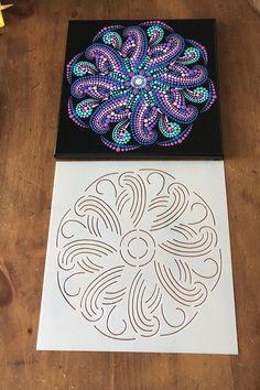 Mandala Canvas, Mandala Artwork, Mandala Painting, Mandala Drawing, Mandala Painted Rocks, Mandala Rocks, Dot Art Painting, Stencil Painting, The Dot