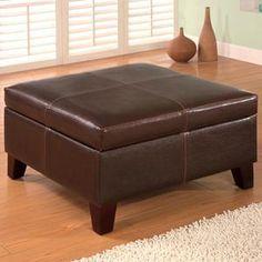 Nebraska Furniture Mart – Coaster Square Vinyl Storage Ottoman
