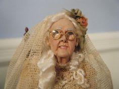 Marcia Backstrom 'Miss Haversham' Miniature Original Art Doll Beautiful Fantasy Art, Beautiful Dolls, Dollhouse Dolls, Miniature Dolls, Maria Jose Santos, Guys And Dolls, Bear Art, Doll Tutorial, Miniture Things