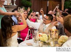 Toasting the new bride & groom