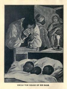 Una ilustración de una edición infantil de 1900 de La Cabaña del Tío Tom, de Harriet Beecher Stowe