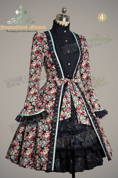 """Wonderland DayDream"" Long Sleeves Princess Open Front Dress&Circle Hairdress*4colors"