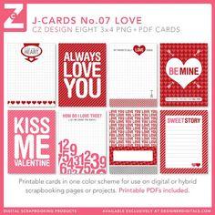 J-Cards No. 07 Love - Digital Scrapbooking Elements DesignerDigitals - Cathy Zielske
