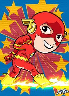 Super Powers The Flash Art Card by K-Bo. by kevinbolk.deviantart.com on @deviantART