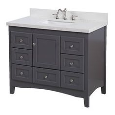 Charlton Home Farlend Single Bathroom Vanity Set 42 Inch Vanity, Vanity Set, Best Bathroom Vanities, Single Bathroom Vanity, Hall Bathroom, Kitchen Bath Collection, Interior Design Tips, Bathroom Inspiration, Bathroom Ideas
