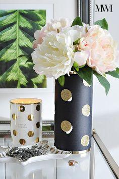 Kate Spade Sunset Street Lux Vase DIY knock-off tutorial via monicawantsit.com