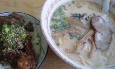 """Nagahama ramen. Rice bowl """"Dote-meshi-don"""". #japan #Nagoya"""