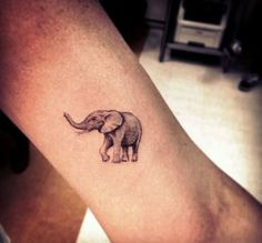 19 Small Elephant Tattoo
