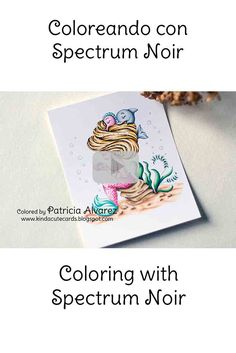 Coloring with spectrum noir markers, coloring with markers, rotuladores spectrum noir, colorear, coloring video, video