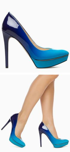 Got'em!! They are soooo high! I better practice walking in them!! lolol! Ocean blue ombre pumps!