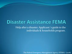 Presentation of the help that FEMA can provide to you: Disaster assistance. Please RT and Share. #RestoreTheShore http://www.slideshare.net/cristoleon/disaster-assistance-fema