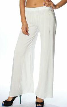 Pinkclubwear Solid Mint / Pink / White Linen Stretch Waist Wide Leg Palazzo Pants-White-Small Pink Clubwear, Wide Leg Palazzo Pants, Pink White, Capri, Mint, Leggings, Legs, Amazon, Fashion