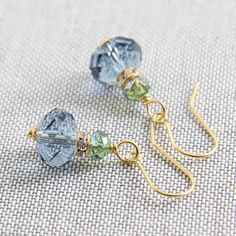 swarovski rondelle crystal earrings by myhartbeading | notonthehighstreet.com