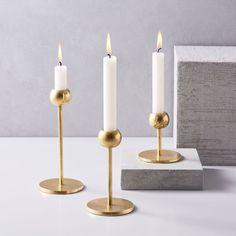 Modern Brass Candleh...