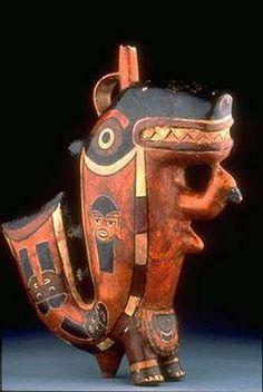 Ceramica de la cultura Nasca,que se desarrollo del siglo I hasta el XI d.c.