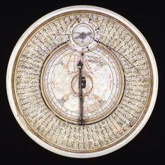 magictransistor:  Sundial, Compass and Quibla Indicator by Bayrām Ibn Ilyās (1582-1583)  [British Museum, London]