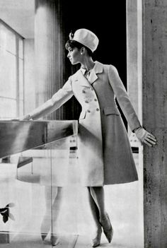 1964 Christian Dior. Similar to the navy coat and dress I bought from a little Atelier in Paris in 1969.
