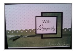 Sympathy card - used Cuttlebug dots folder