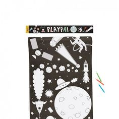Hold on to your rockets! Space travel here we go! Explore the stars, create your own adventures, colour the planets and creatures you meet along the way - and don't forget to add a pack of Playpa Stickers for even more fun! Create Your Own Adventure, Diy Shops, Teenage Girl Bedrooms, Modern Kids, Modern Family, Jungles, Creative Play, Paper Decorations, A Table