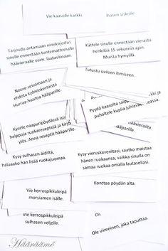 Salatehtävä ei vie häissä aikaa, mutta tuo mukavaa pientä säpinää http://www.haaraamo.fi