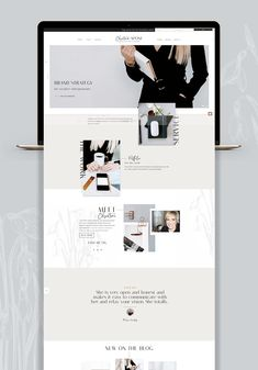 Christine Capone Creative – Branding and Web Design Web Design Trends, Design Websites, Design Blog, Page Design, Ios Design, Blog Designs, Dashboard Design, Website Designs, Design Ideas