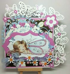 Anita's card for the sparkle challenge
