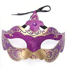 Multicolor Shimmering Powder PS Half Face Masquerade Mask – CAD $ 31.04