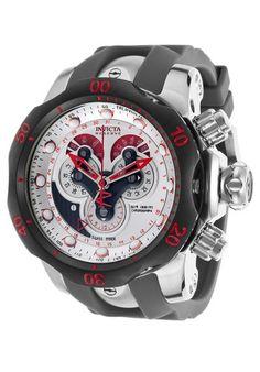 e7bbe3d6a23 Invicta Venom Chronograph Silver Dial Grey Polyurethane Men s Watch 14467