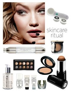 """""""Flawless Skin"""" by kotnourka ❤ liked on Polyvore featuring beauty, Tom Ford, Vanity Planet, Dermablend, Chanel, Guerlain, Sensai, Sisley and Forever 21"""