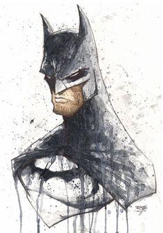 Rob Duenas Watercolor Batman