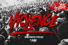 violence typeface was inspired from chaotic, riot, protest,. who make the typeface looks very instant and messy. Business Brochure, Business Card Logo, Texture Web, Design Typography, Bold Fonts, Fancy Fonts, Photoshop, Brush Font, Brush Lettering