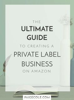 The Ultimate Guide to Creating A Private Label Business On Amazon // Paige Cole -- #onlinebusiness #entrepreneur