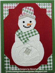 Snowman Stampin Up Christmas Card Ideas