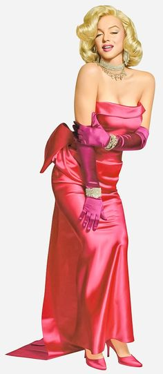 """Marilyn Monroe (Norma Jeane Baker nee Mortenson) in her most famous look from """"Gentleman Prefer Blondes,"""" - the dress and jewels. Arte Marilyn Monroe, Marilyn Monroe Photos, Marilyn Monroe Dresses, Marilyn Monroe Wallpaper, Marilyn Monroe Movies, Divas, Hollywood Glamour, Old Hollywood, Viejo Hollywood"""