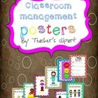 Use these poster as a way to strengthen your classroom rules. Includes a poster for hall rules....