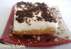 Μπανόφι με τραγανή βάση και νόστιμη σάλτσα καραμέλας Banoffee, Tiramisu, Food And Drink, Pudding, Sweet, Ethnic Recipes, Desserts, Greek Recipes, Candy