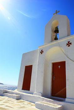 greek church in mykonos Mykonos Island, Mykonos Greece, Myconos, Greek Blue, Parthenon, Greeks, Greek Islands, Crete, Nice View