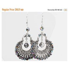 Crystal Hoop Earrings,Faceted Crystal,Clear Crystal Earrings,Belly... (€16) via Polyvore featuring jewelry, earrings, vintage crystal jewelry, hoop earrings, belly dance jewelry, crystal hoop earrings and crystal stone jewelry