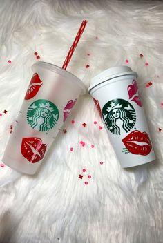 Excited to share the latest addition to my shop: Valentine's Day Kisses Starbucks Reusable Cups Starbucks Cup Design, Starbucks Tumbler Cup, Personalized Starbucks Cup, Custom Starbucks Cup, Personalized Cups, Valentine Day Kiss, Valentine Ideas, Starbucks Valentines, Coffee Cup Art