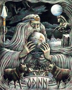 """Odin (/ˈoʊdɨn/; from Old Norse Óðinn) is a major god in Norse mythology, the Allfather of the gods, and the ruler of Asgard. Homologous with the Old English """"Wōden"""", the Old Saxon """"Wôdan"""" and the Old High German """"Wôtan""""."""