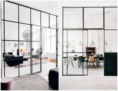 · I want glass walls like this in my home ↓↓ · Pictures found throughweheartit · Weekly dash of interior inspiration· Jeg kjenner jeg er litt fed-up med alt det lyse, minimalistiske og stilrene, og jeg er klar for å personalisere hjemmet mitt. Endelig, tenker sikkert mange av dere. Men det er jo en prosess …
