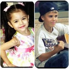 Selena Gomez and Justin Bieber when they were little! So cute