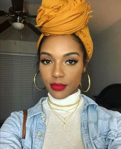 I need to invest in more head wraps. This is a gorgeous look!